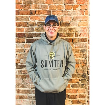 Gray Sumter Hoodie with Logo