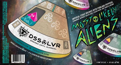 Most Likely Aliens Mexican stout label