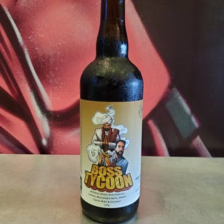 Picture of a 750 mL bottle with the label of Boss Tycoon