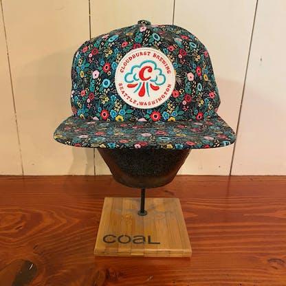 floral flat hat