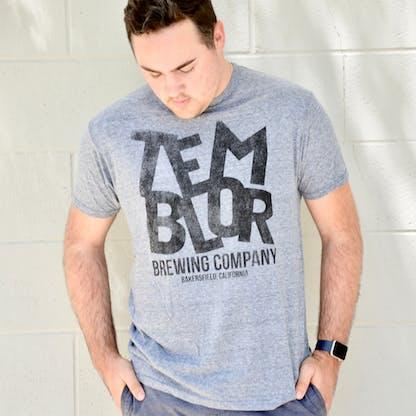 Grey Temblor Logo T-Shirt