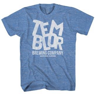 Blue Temblor Logo T-Shirt