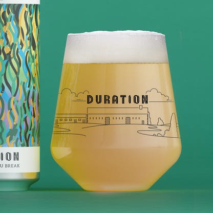 Duration Glassware Allegra Brewery Artwork
