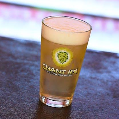 Chant Pint Glass Lifestyle