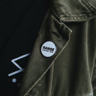 White Logo RB Lapel Pin
