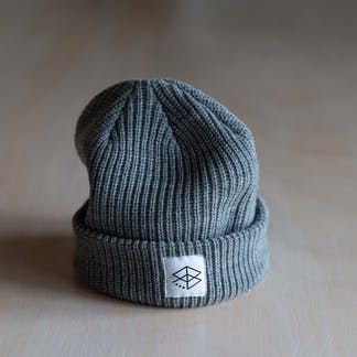 Close up of RB Cable Beanie