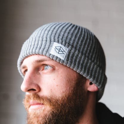 Matt wearing RB Cable Beanie