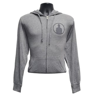 Funky Buddha Grey Hoodie Front