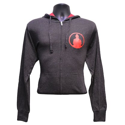 Funky Buddha Grey Red Hoody Front