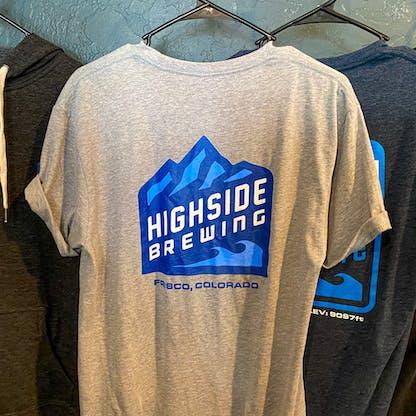 Back of Grey Highside Logo T shirt