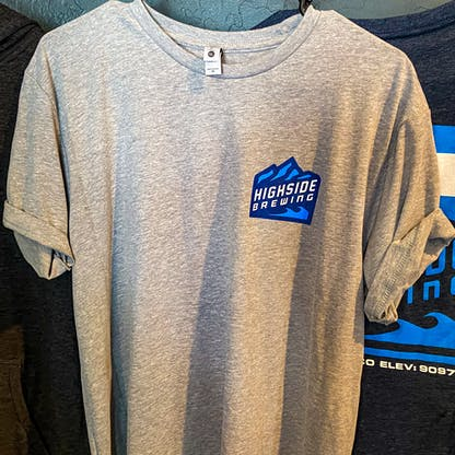 Grey Highside Logo T shirt