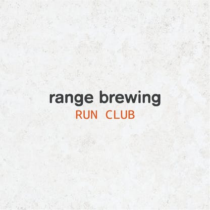 Product Image with the text 'Range Brewing Run Club'