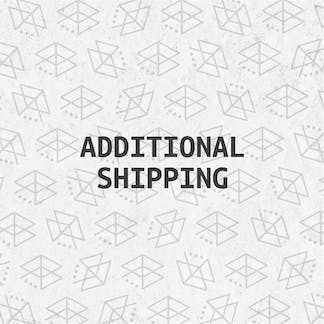 Product tile with the text 'Additional Shipping'