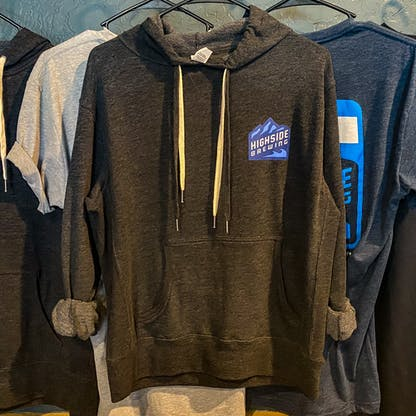 Front of pullover hoody