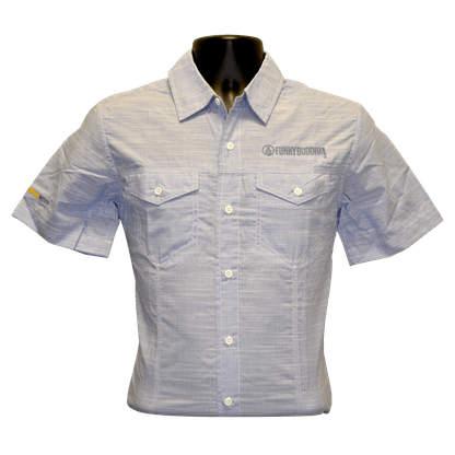 Mens Heathered Grey Button Down