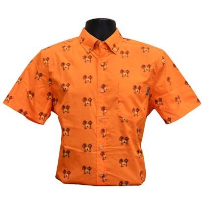 Orange Button Up
