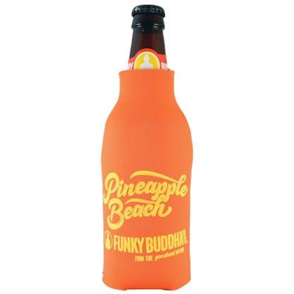 Orange Pineapple Beach Bottle Koozie 2