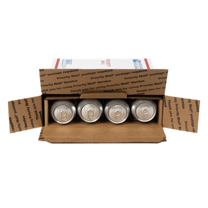 box for shipping 8 cans flat rate
