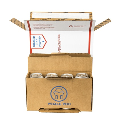 Box to ship 8 cans flat rate