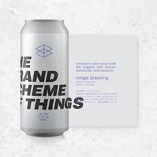 Can of the Grand Scheme of Things with rolled-out label