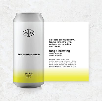 Can of Low Power Mode with rolled-out label