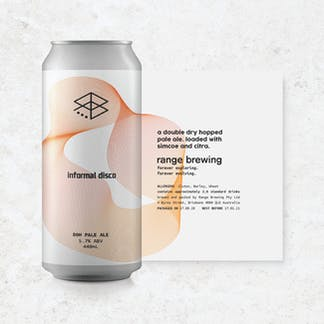 Informal Disco can with rolled-out label