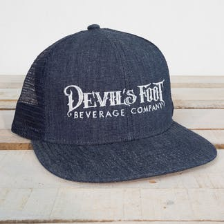 Logo Hate in Navy Denim