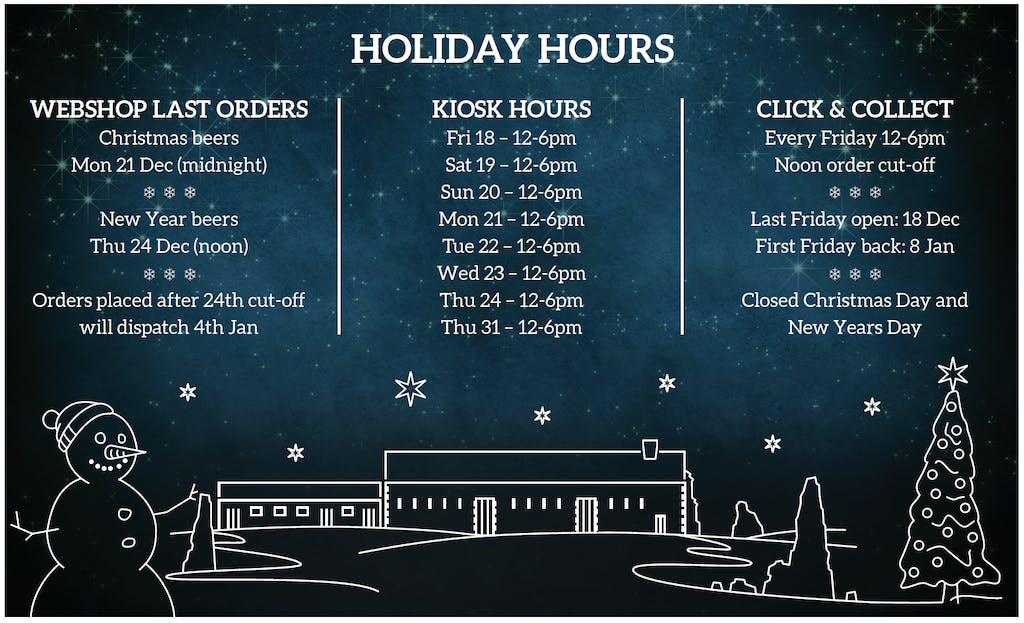 christmas december online shop hours