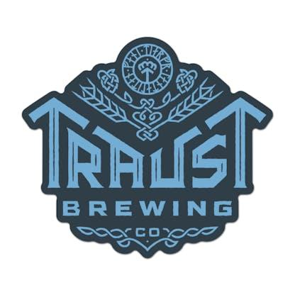traust logo sticker