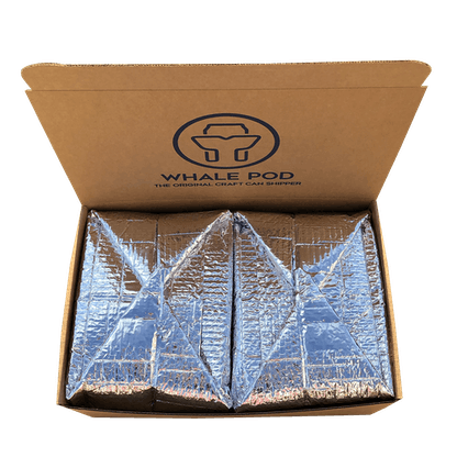 Insulated boxes for shipping cold beer cans 16oz