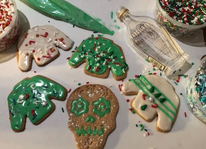 3 Stars Angel's Envy ugly sweater cookies
