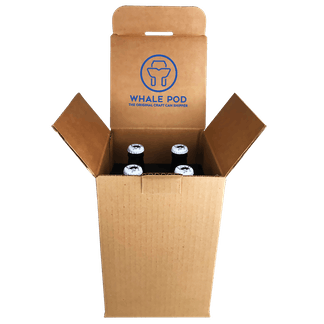 boxes for shipping bottles 4 pack 12oz beer