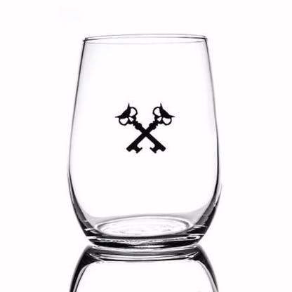 6.25oz taster glass with our crosskeys in black