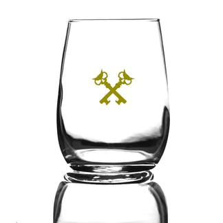 6.25oz taster glass with our full logo in gold