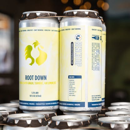 Root Down Saison cans