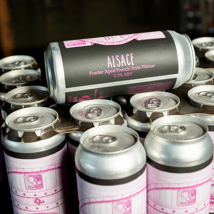 close up Alsace cans