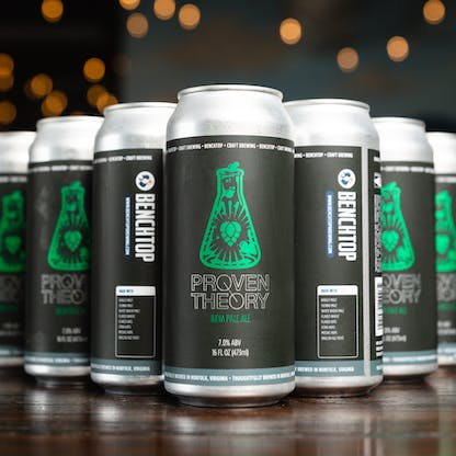 New Proven Theory logo cans