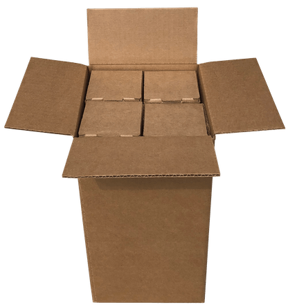 4 bottle beer shipping box