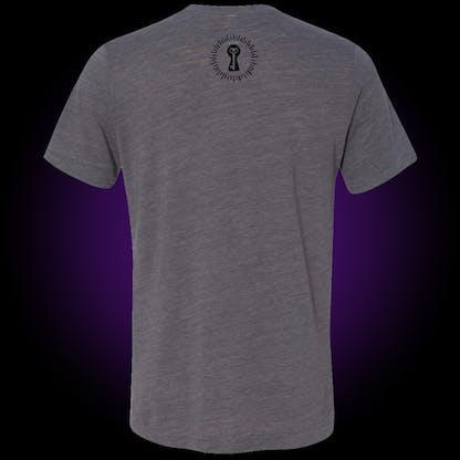 back of gray thrasher t-shirt