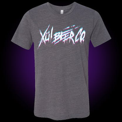 gray t-shirt with our thrasher logo on the front