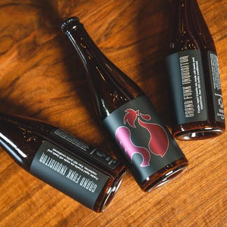 Grand Funk bottles on table