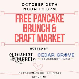 Free Pancake Brunch & Pop Up Market & Cider Releases!