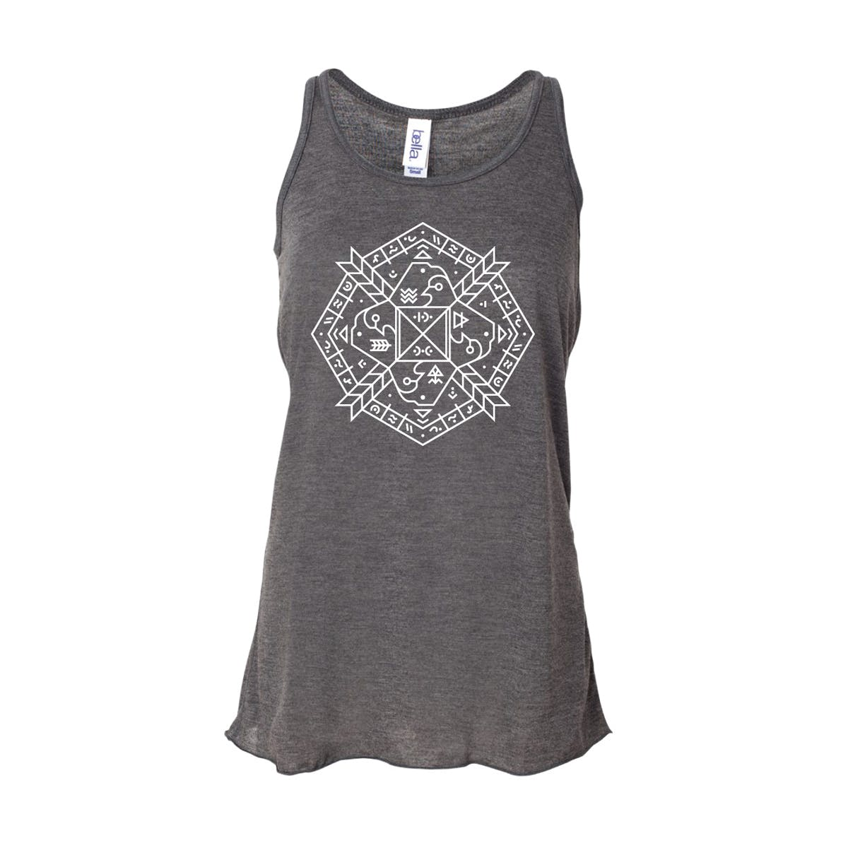 Copy of mandala-tank-womens-heather-front