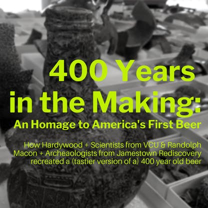 400 years in the making an homage to america's first beer