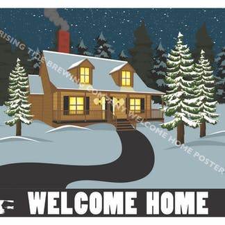 Poster for Rising Tide's Welcome Home Beer Brand Art