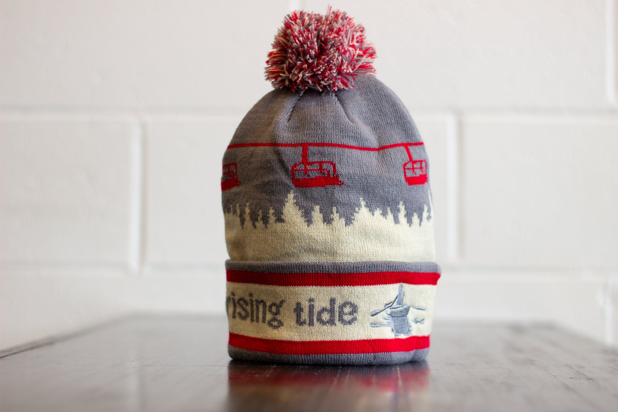 Rising Tide Brewery Winter Hat with Pom